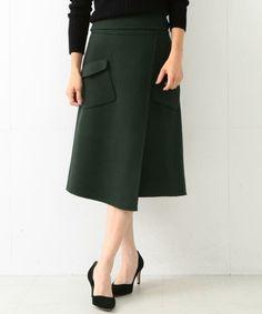 【予約】Demi-Luxe BEAMS / ポケット付き リバーラップ風スカート(スカート)|Demi-Luxe BEAMS(デミルクス ビームス)のファッション通販 - ZOZOTOWN