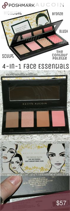 Kevyn Aucoin Contour Palette 4-in-1 Face Essential New in Box - Never Used (Swatches from Google)  Full Sz & Authentic  These shades are suitable for all complexions. Create the perfect contour with the iconic Sculpting Powder. The Celestial Powder is an ethereal highlighter that adds a subtle glow. Also a limited-edition blush that enlivens the complexion. Finish with the Matte Bronzer for a subtle tanned look.  Includes .10oz/ea ? Medium Sculpting Powder ? Starlight Celestial Powder ?…