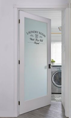 Store-Front Laundry Room Door