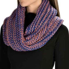 PWDR Room Twisted Infinity Scarf (For Women) in Melon/Royal - Closeouts