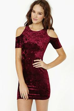 Motel Carey Velvet Dress on Wanelo