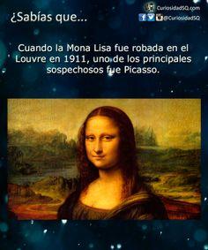 Cuando la Mona Lisa fue robada en el Louvre en 1911, uno de los principales sospechosos fue Picasso. ~ ¿Sabías que?