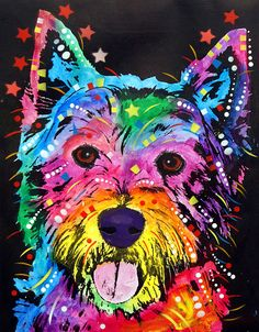Westie Painting - Westie Fine Art Print - Dean Russo ☜♥☞