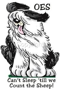 old english sheepdog cartoon art | Details about Old English Sheepdog Ladies Tshirt Nightshirt 9951 dog