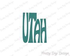 Digital Utah Word Art Utah jpg png pdf eps svg Utah logo