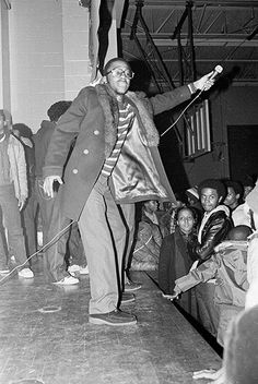 Chief Rocker Busy Bee at The Zulu Nation Anniversary! Bronx River Projects 1981