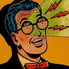 Vintage Comic Shows X-Ray Vision Spec's - collage clipart mailart inspiration