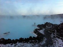 Blue Lagoon Spa Clinic in #Iceland, centered around healing geothermal waters via Vanity Fair