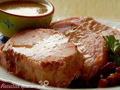 Lombo assado com bacon