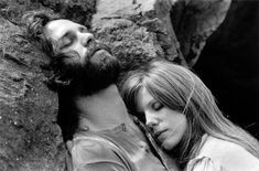 Jim Morrison with Pamela Courson