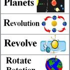 This file contains 48 Solar System Word Wall Cards on 12 pages. The Science words and vocabulary terms have a corresponding picture on each card....