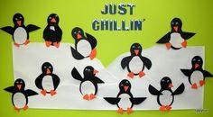 Just Chillin Penguin Winter Bulletin Board.  Tons of ideas here.