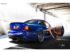 Blue BMW E46