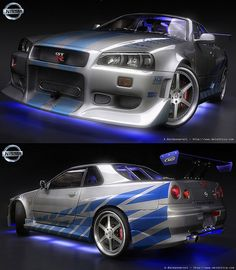 "My ""second"" Dream Car. The Nissan Skyline GTR R34 sports a twin turbo inline six cylinder that rolled off the line with 280BHP (some swear dyno'd stocks pushed 320BHP) and all wheel drive. Nissan claims (and many tuners can back it up) that the drive Nissan Skyline photos - http://divinumphoto.com"