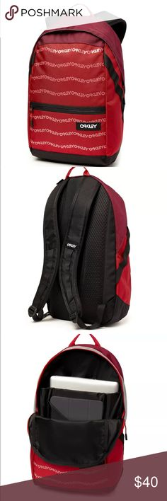 2860767b163c2 Oakley FS Allover Logo Backpack Oakley Backpack NWT Color  Red Has 1 main  compartment and