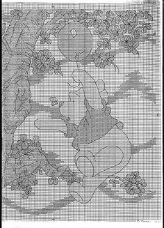 Just Cross Stitch Patterns | Pooh and the honey tree 1 of 2