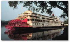 Delta Queen Steamboat on the Mississippi River