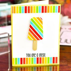card ice cream popsicle birthday greetings - ispind kort The Stamps of Life