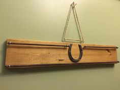 2.5ft Horseshow Ribbon Rack Wooden Ribbon Display Hanger