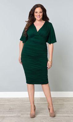 Dark Green dress.
