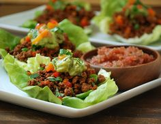 Paleo Taco Veggie Lettuce Cups- looks yummy and easy! a winning combination