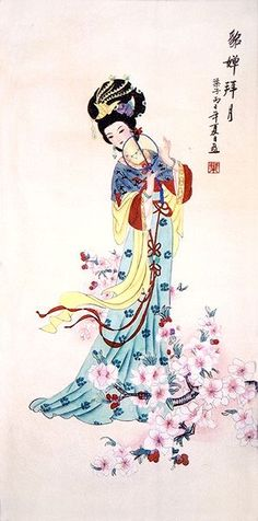 Image result for chinese brush painting woman