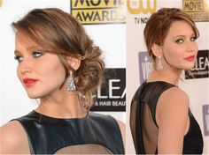 Side Updos: Hot Trend for Formal Occasions: Jennifer Lawrence's Side Updo
