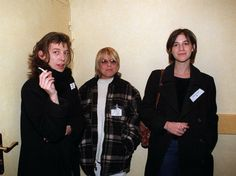 Kate Barry with France Gall and Charlotte Gainsbourg #katebarry #francegall #charlottegainsbourg
