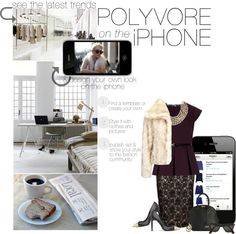 """""""POLYVORE: THERE'S AN APP FOR THAT"""" by violin400 ❤ liked on Polyvore"""