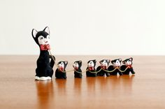 Vintage Ceramic Flocked Mother Cat by HouseofSeance