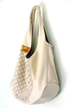 BAHA. Leather boho bag / leather tote bag / hobo bag / leather