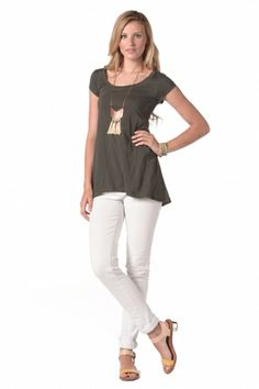 Anna Top in Graphite synergyclothing.com #ecofashion #organic