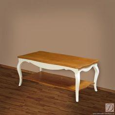 Couchtisch Tisch ONTARIO natur Massiv B120cm - Der neue Hauptdarsteller Ihrer Polsterlandschaft. Dieser herrlicheTisch im Landhausstil ist mit Liebe zum Detail aus edler Pinie gefertigt. Der weiße Lack gibt dem Schmuckstück eine edle Ausstrahlung.  Lassen Sie sich von der aufwendig gearbeiteten Oberfl