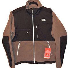 North Face Denali Mens AMYN-K4D Brown Tnf Black Fleece Zip Jacket Size 2XL