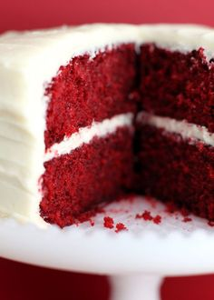 Red Velvet Cake...with cream cheese frosting.