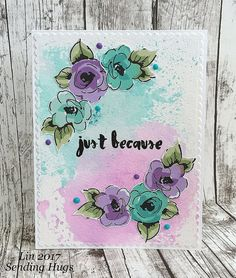 Painted Flowers and Painted Greetings