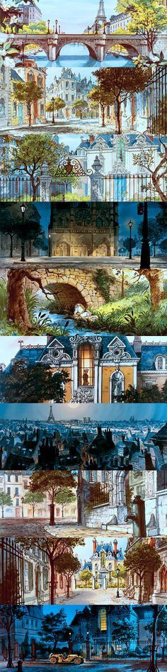 breathtaking scenes from Disney movies | the Aristocats