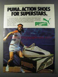 1980 Puma Vilas Pro Shoe Ad - Guillermo Vilas