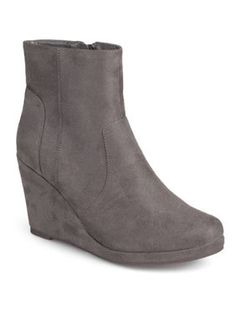 d6cc8de0c Women s Wedge Faux Suede Booties Wedge Ankle Boots