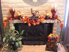 No Place Like Our Home: Fall Decorated Mantle