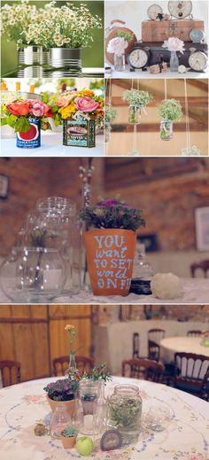 Detalhes / Vasinho de barro / Garrafinhas / Casamento DIY / DIY wedding