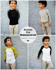 Sewing Like Mad: Sewing for Kindergarten - Elegance & Elephants.