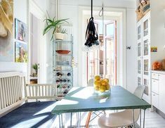 house of style  A SHINNINGEXAMPLE #2  <3 <3 LOVE this bright, clean colorful kitchen (ahhhhhhhhhh!) - 'Tis the season for brighter and extended daylight, warmer weather and a renewed sense of style. So let's welcome this rejuvenating time of year by taking a tour of this sunlit, 2-bedroom flat in Stockholm, Sweden. These 800 square-feet of glowing charm beautifully embody what this season is all about: a refreshing, invigorating, joyful and crisp vibe.