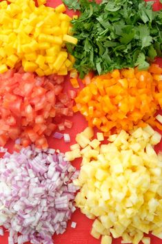 We're so excited to share our Hawaiian Salsa recipe with you. This is the perfect dish to take to a… Mexican Food Recipes, Whole Food Recipes, Vegetarian Recipes, Cooking Recipes, Healthy Recipes, Ethnic Recipes, Appetizer Recipes, Salad Recipes, Dinner Recipes