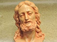 Statue Head of Christ Bust of Christ made of terracotta entirely hand-made. #madeinitaly #artigianato