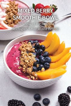 Transform your breakfast with perfectly ripened fruits and wholesome granola that are just bursting with texture and taste. This powerhouse smoothie bowl is packed with natural flavors and a host of health benefits. This easy to make smoothie bowl are not only great for breakfast but are the perfect choice for a satisfying mid-day snack. Click through for the recipe! #oberweisrecipes #simplydelicious