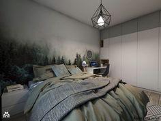 Projekt sypialni - Średnia sypialnia małżeńska - zdjęcie od Katarzyna Jania - homebook Comforters, Blanket, Interior Design, Bed, Furniture, Home Decor, Nest Design, Homemade Home Decor, Home Interior Design
