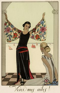 Buy online, view images and see past prices for Barbier, George: Falbalase et Fanfreluches . Invaluable is the world's largest marketplace for art, antiques, and collectibles. Art Deco Illustration, Fashion Illustration Sketches, Art Deco Print, Art Deco Design, Art Nouveau, Vintage Vogue, Vintage Art, Style Année 20, Buch Design