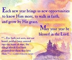 may your year be blessed in the lord
