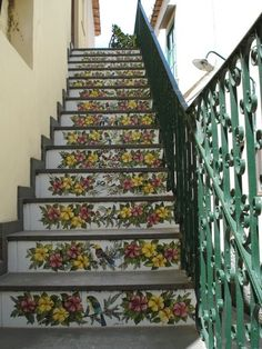 Tiled stairs of Capri, Naples, Campania